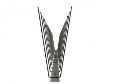 2er-Edelstahlspitzen (V2A) Möwen 180 mm