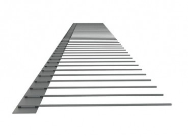 1er-Solar-Edelstahlspeichen (V2A) 70 mm