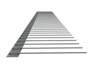 1er-Solar-Edelstahlspeichen (V2A) 100 mm
